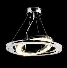 18W, 1700lm,SATUR-MODERN DESIGN LED CHANDELIER CEILING LAMP LIGHTING FITTING in Home, Furniture & DIY, Lighting, Ceiling Lights & Chandeliers | eBay