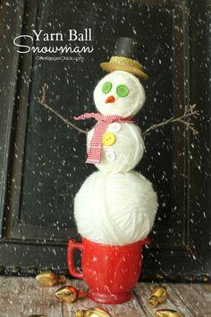 Yarn Ball Snowman de