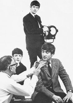 Richard Starkey, Paul McCartney, and John Lennon (At Dezo Hoffmann's Studio in Wardour Street, June 1963)