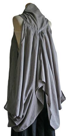 シルク加工のドレープデザイン羽織  JGN-007-03