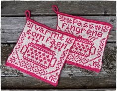 pattern by Jorunn Jakobsen Pedersen Crochet Potholders, Knit Crochet, Christmas Interiors, Crochet Home Decor, Diy Arts And Crafts, Simple Christmas, Pot Holders, Needlework, Knitting Patterns