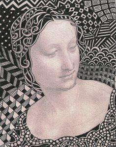 Art image with zentangle