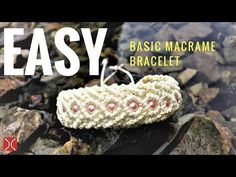 Easy DIY Macrame Bracelet with basic knot - The basic macrame armband - tutorial by Tita - YouTube