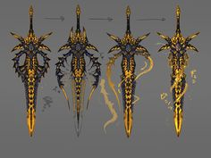 Ninja Weapons, Anime Weapons, Sci Fi Weapons, Armor Concept, Weapon Concept Art, Fantasy Sword, Fantasy Weapons, Fantasy Character Design, Character Art