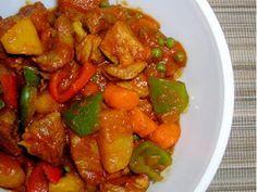 Over Rice: Afritada (Filipino Pork and Chicken Stew)