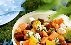 Moroccan Salad with Goat's Cheese, Beetroot and Oranges
