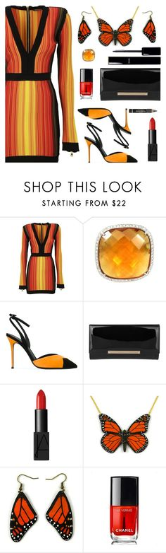 """""""Never Hide Your Wings"""" by deborah-calton ❤ liked on Polyvore featuring Balmain, Giuseppe Zanotti, Jimmy Choo, NARS Cosmetics, Chanel and L'Oréal Paris"""