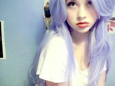 pale purple hair