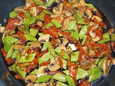 Snijbonen met paprika en champignon - Vol Smaak