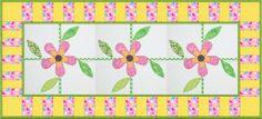 Flower Patch runner1 1024x465 100 Blocks Designer Ann Weber