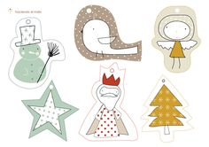 Beautiful Christmas Gift Tags That Are Free to Print: Free Holiday Gift Tags at Haciendo El Indio Free Printable Christmas Gift Tags, Holiday Gift Tags, Holiday Crafts, Printable Tags, Free Printables, Christmas Labels, Noel Christmas, All Things Christmas, Gift Wrapping