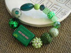 Dark Green Mahjong Bracelet - Mahjong Jewelry - Mah Jong Gift by Earmarksdesigns on Etsy