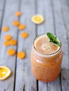 Zesty Orange & Carrot Smoothie for 2 will really get you glowing -- omit the optional maca powder and sweeten to taste with stevia for Phase 1.