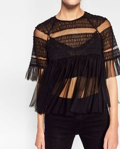 FRILLY TULLE TOP
