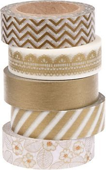 Metallic Washi Tape Set - tape photos in book?