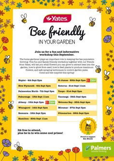 Join us for fun and informative workshops on how to make your garden bee friendly!