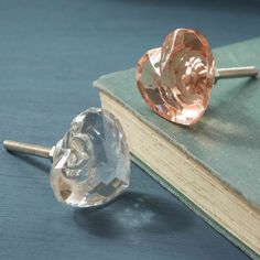Details about Pushka UK Heart Shaped Clear Glass Cupboard Door Knob ...