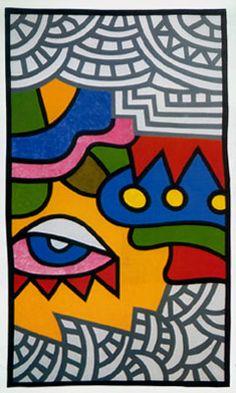 Αλέξης Ακριθάκης Ακρυλικό, 1990
