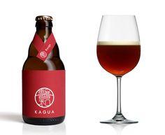 kagua beer label design