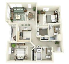 Sketsa Denah Rumah Kecil 2 Kamar Tidur #InteriorDesignForBedrooms