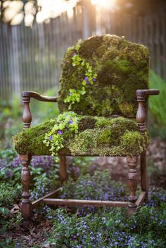 Moss Covered Chair. One Of My Favorite Creations, To Date! *Inspired By