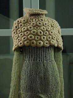 ispiração para capa com flores em crochet