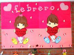 Periódico mural del día del amor y la amistad