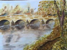 Watercolour Bridge - By Bazza