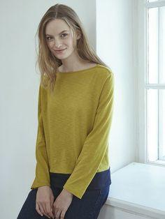 Langarm-Shirt Schilfgrün