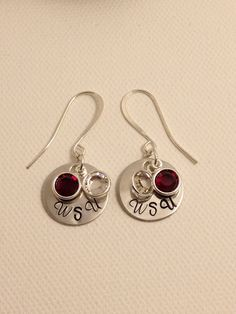 Washington State University Sparkly Earrings - WSU Earrings - Crimson Channel Drop Swarovski Crystal Earrings by AnnabelsAtticShop on Etsy https://www.etsy.com/listing/214177315/washington-state-university-sparkly
