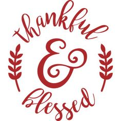 Silhouette Design Store: thankful and blessed