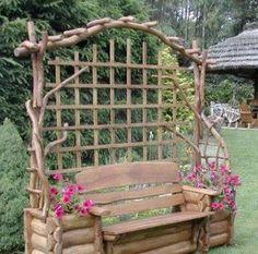 diy trellis planter | Trellis/bench/planters