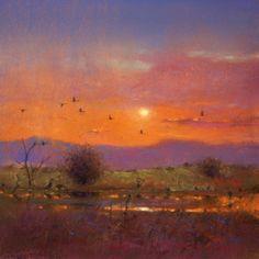 Birds at Bosque del Apache, pastel, Tom Perkinson.