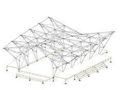 100% Terschelling / Studio Elmo Vermijs Bridges Architecture, Folding Architecture, Parametric Architecture, Architecture Graphics, Architecture Drawings, Concept Architecture, Architecture Details, Truss Structure, Membrane Structure