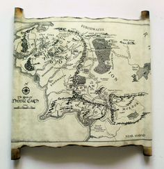 Lord Of The Rings Map Middle Earth Map The Hobbit Map on Handmade
