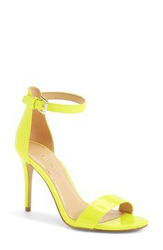 Vibrant summer sandals.