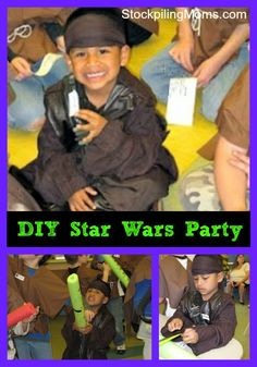 Love this DIY Star Wars Birthday Party theme!