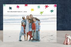 Rainbow Holidays one photo holiday card by Up Up Creative for Minted
