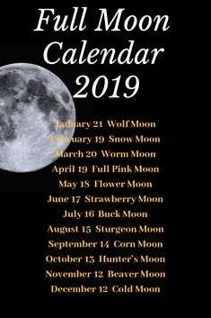 Full Moon Calendar 2019 Full Moon Calendar by Mad Witch Supplies Northern Hemisphere Moon In Leo, New Moon, Moon Schedule, Take Moon, Sturgeon Moon, Corn Moon, Reiki, Full Moon Ritual, Full Moon Spells