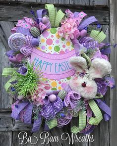 """187 Likes, 19 Comments - Ba Bam Wreaths (@babamwreaths) on Instagram: """"Something So SWEET About This One! 🐰🌷🌿🐰🌷🌿"""""""