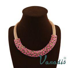 2014 nuova dichiarazione gioielli bohemien resina collane grosso colletto per le donne regalo in Collane del Choker da Gioielli su Aliexpress.com