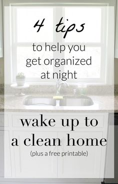 Real Life Cleaning and a FREE Printable - things to do at night to help make your morning easier. Wake up to a clean house! @target @clorox #RealLifeClean #ad