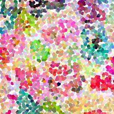 Pointillism inspired floral print fabric by theartwerks on Spoonflower - custom fabric