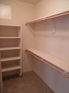 Walk in closet shelving