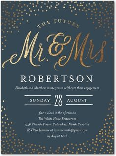 Sparkling Engagement Invites