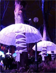 arbres tutu fete lumieres lyon 2014 sathonay Lyon City, Street Installation, Lyon France, Photos Du, Urban Design, Event Decor, Place, Landscape, City