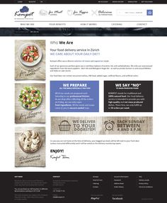 Homemade Food in Zürich on Web Design Served