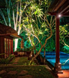 Can you believe the view out of my front door in Bali? This was one of the rooms with its own private pool at the Mandapa Reserve Ritz Carlton… you can see my pool out there, just waiting for a little skinny dip action! Actually, it was a room within a room, as there is another separate living room there to the left and then another door that is actually the exit to the villa. Wow what a place - Bali, Indonesia - photo from #treyratcliff Trey Ratcliff at http://www.StuckInCustoms.com