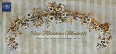 Ciel de Lit Rose Macchia e Mughetti. Ferro battuto e decorato a mano. Design: Renee Danzer. Made in Italy. GBS Firenze