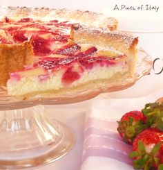 Crostata di Fragole e Philadelphia (Strawberry and Cream Cheese Tart): This page is in Italian, so use Google translate to read.